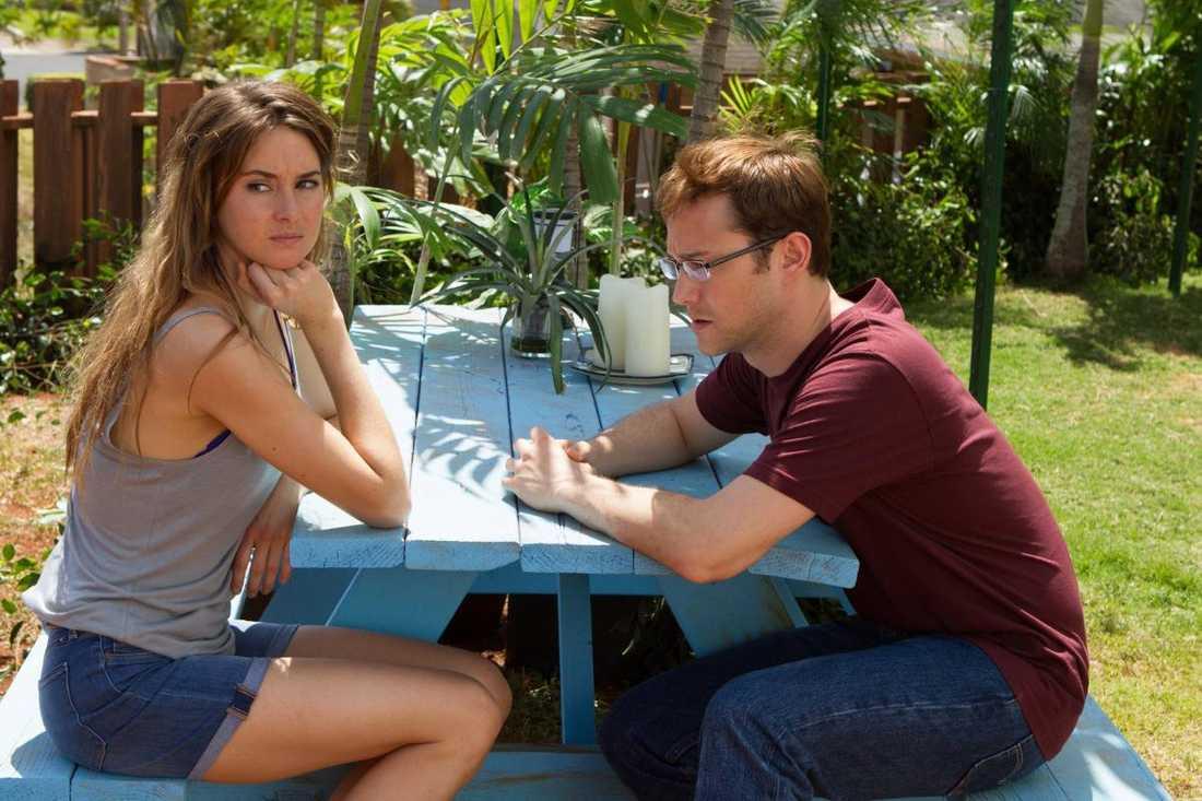 "Shailene Woodley och Joseph Gordon-Levitt ur filmen ""Snowden""."