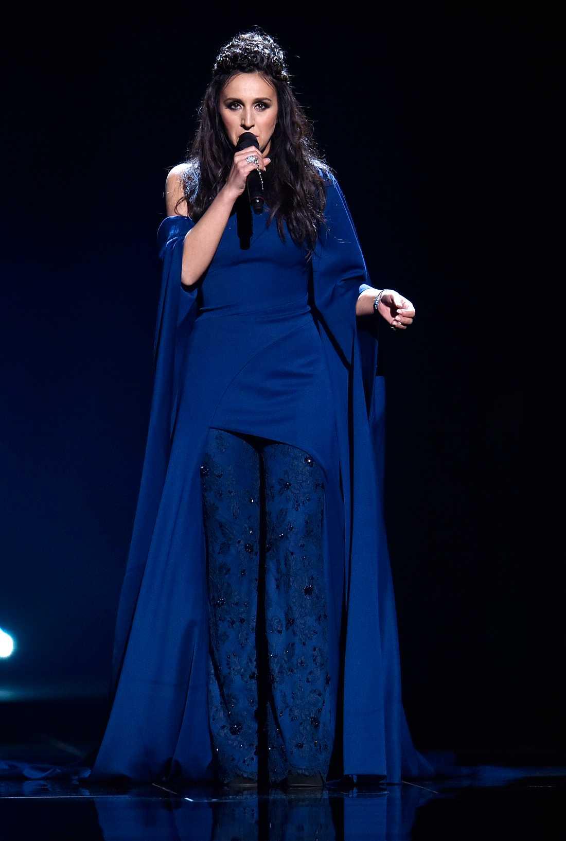 Jamala uppträder Eurovision song contest i Stockholm 2016