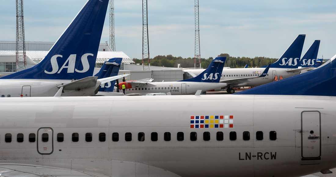 Ett SAS-plan skulle till Florens, men landade i stället i Bologna. Flygbolaget skyller på den mänskliga faktorn. Arkivbild