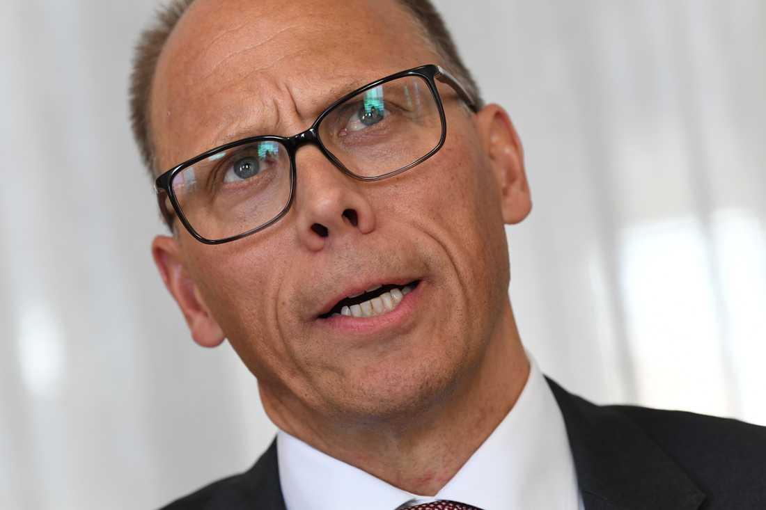 Nordea med nya vd:n Frank Vang-Jensen redovisar kvartalssiffror. Arkivbild.