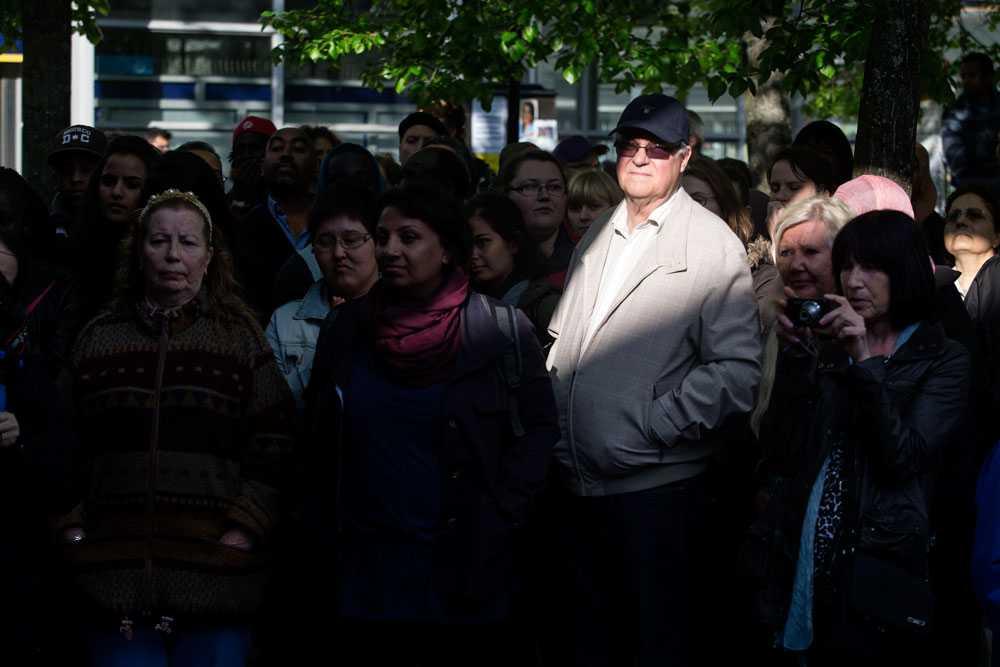NICLAS HAMMARSTRÖM Efter ett par dagar arrangerar dom boende i Husby en demonstration mot kravallerna.