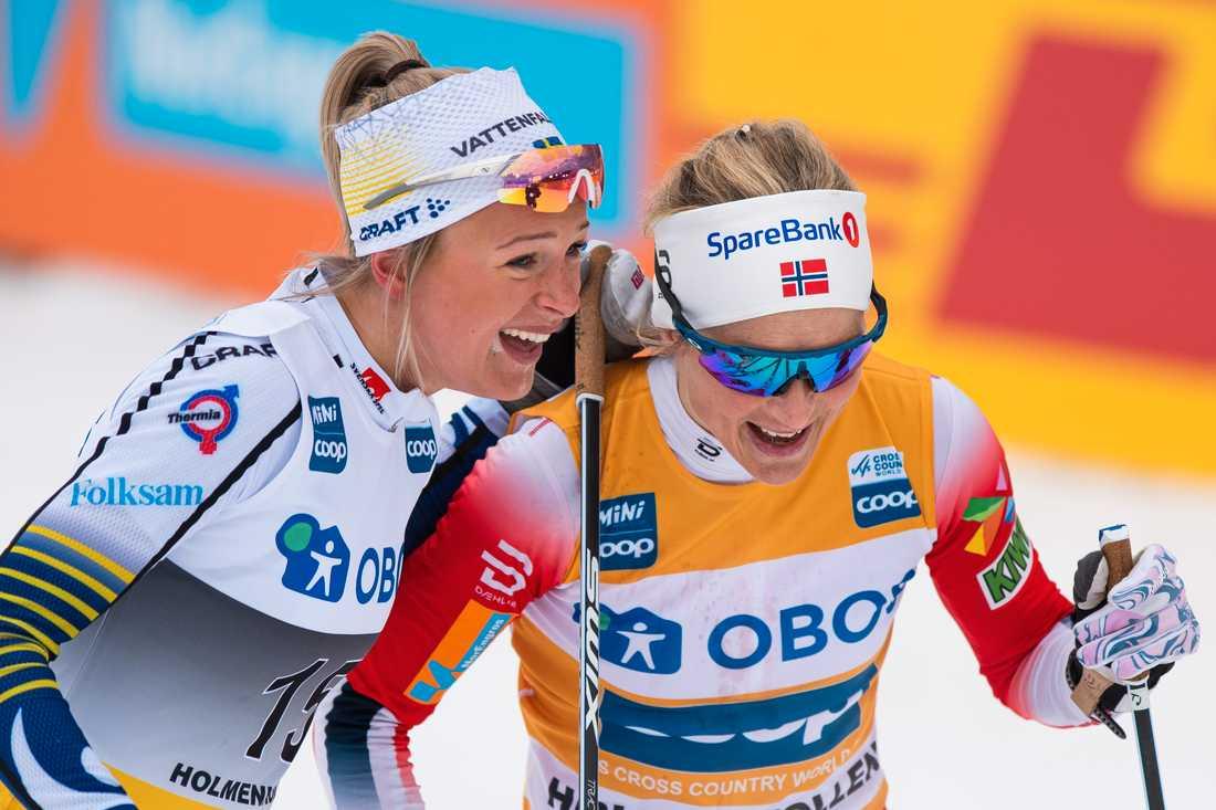 Frida Karlsson och Johaug.