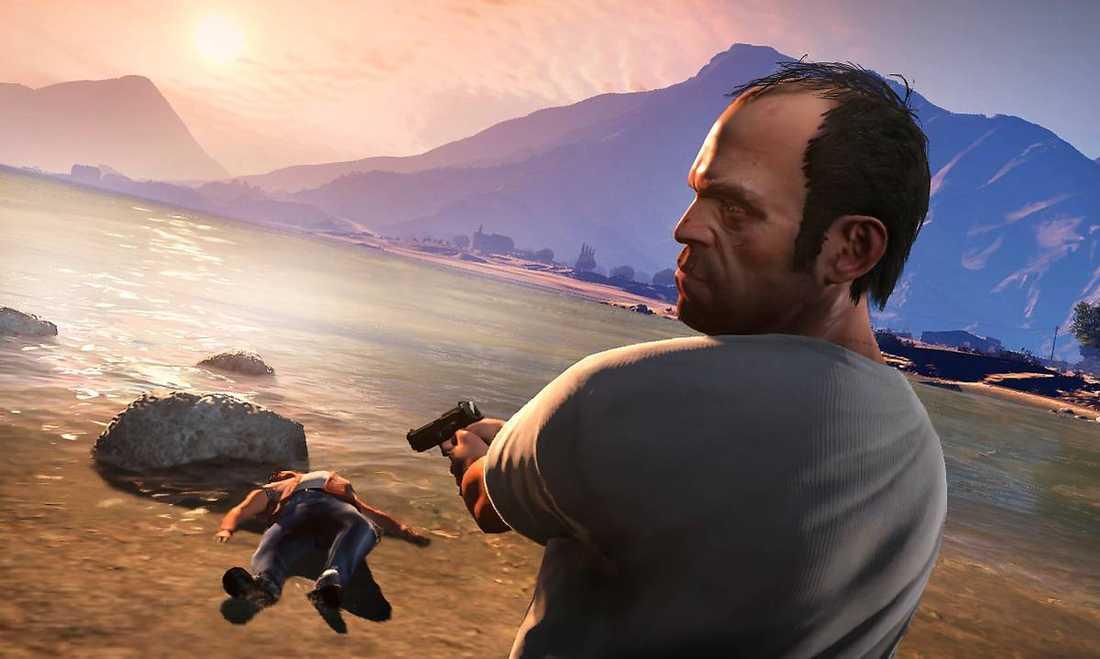 """Skymningsland. """"Grand Theft Auto V"""" bjuder på extra allt i en värld av strippklubbar, knarkhallickar och ultravåld."""