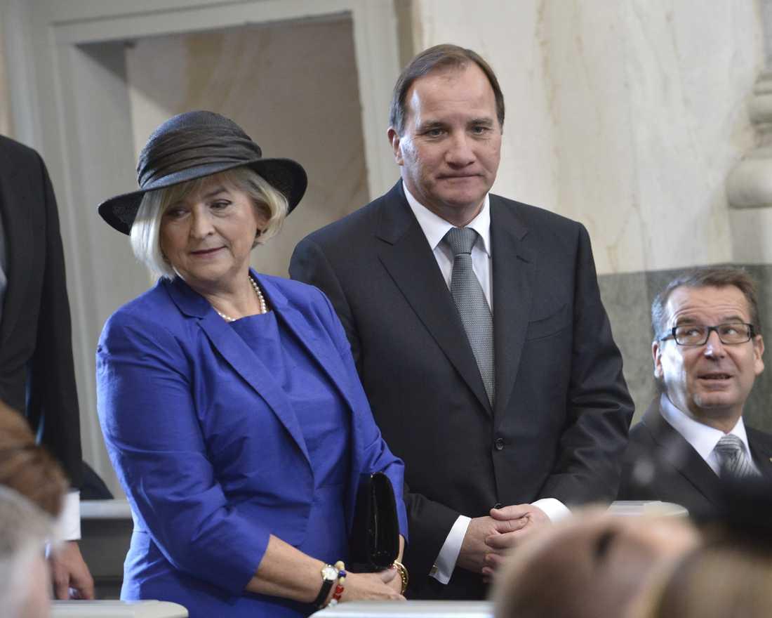 Statministerfrun Ulla Löfven valde ett säkert kort.