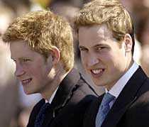 Prinsarna Harry och William kan komma som gäster på Victorias och Daniels bröllop.