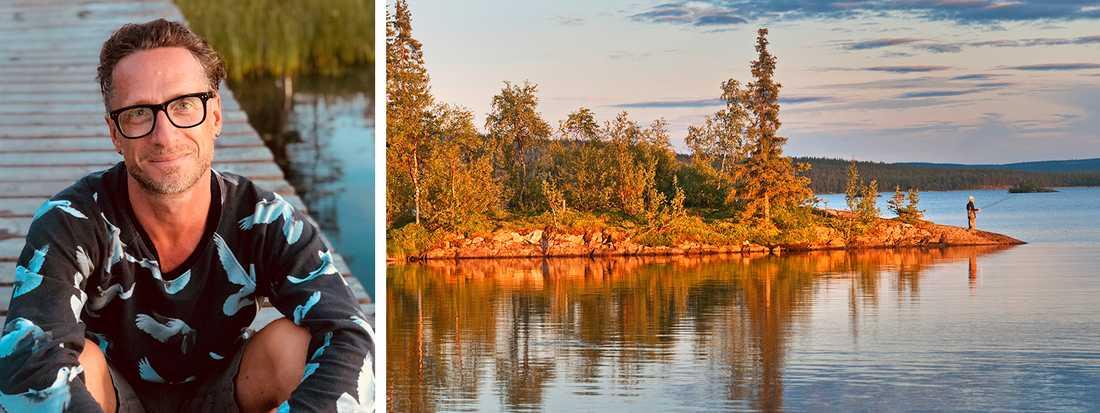 """""""Det som är så fantastiskt med fiske i just Sverige är att i stort sett alla har närhet till vatten"""", säger Andreas Ollinen."""