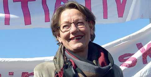Feministiskt initiativs Gudrun Schyman.