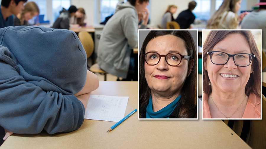 Gång på gång säger M och SD nej till i princip alla förslag som kan öka jämlikheten i svensk skola. I stället för att lyssna på elever, lärare och forskare tar de friskolekoncernernas sida, skriver Anna Ekström och Gunilla Svantorp.