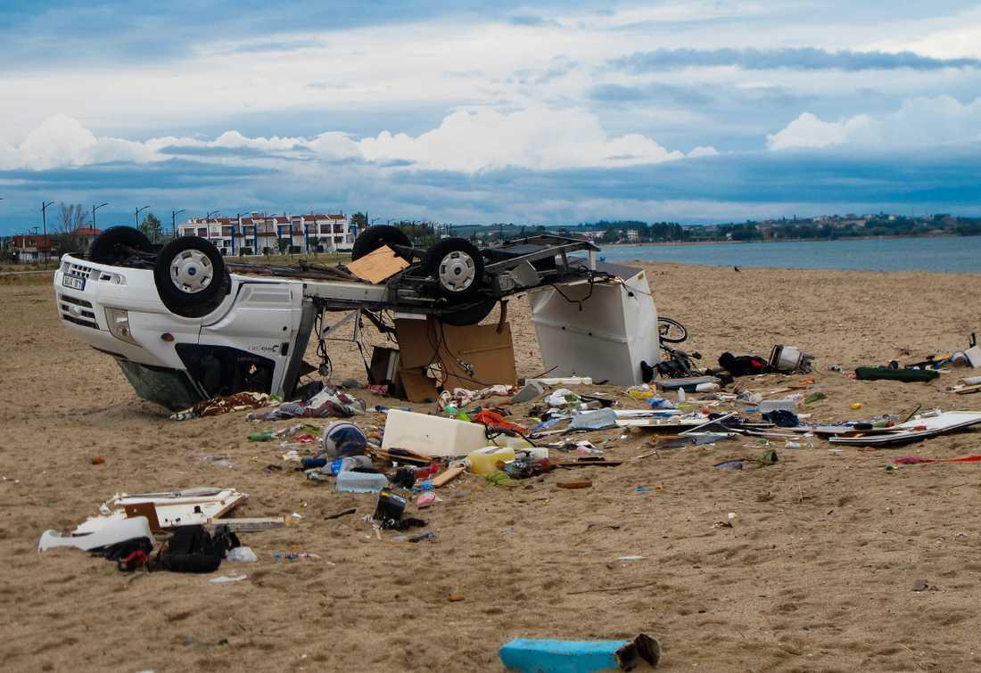 Halkidiki i norra Grekland efter stormen