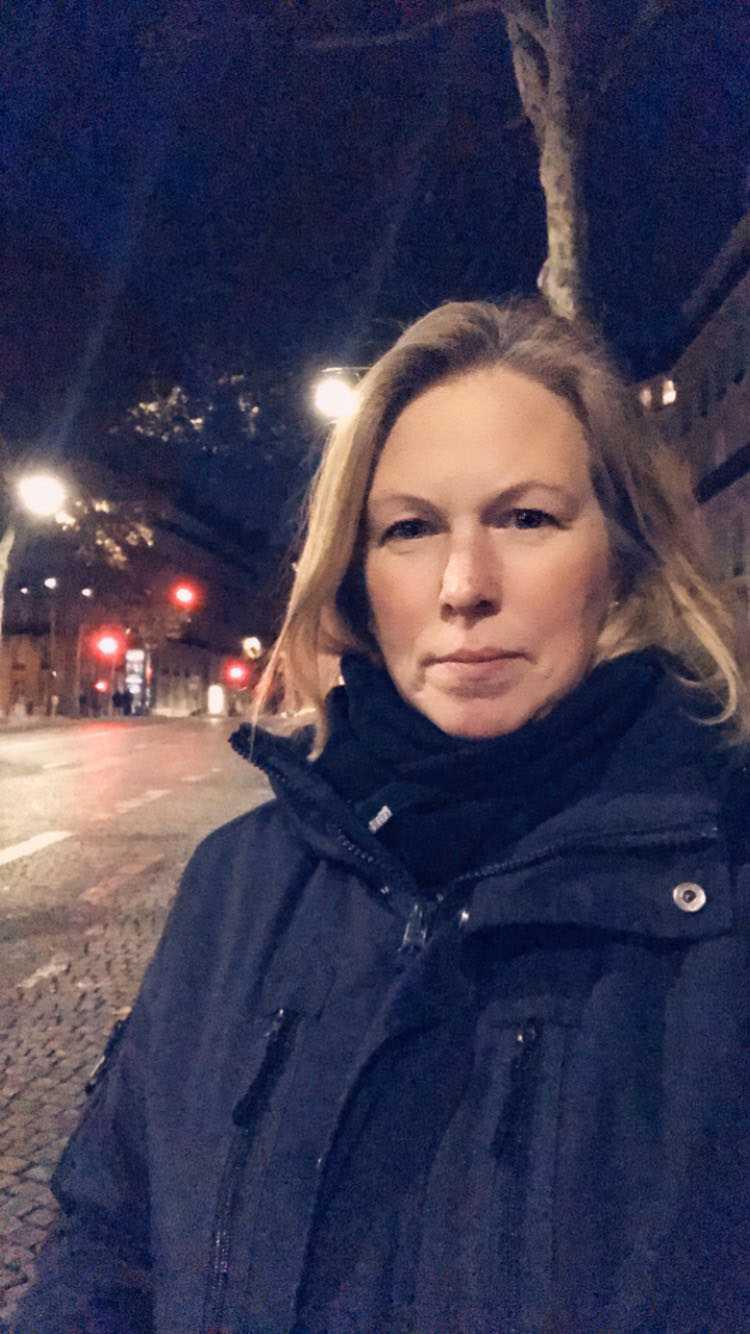Catharina Berndtsson, 45 år från Göteborg  är i Paris över helgen.