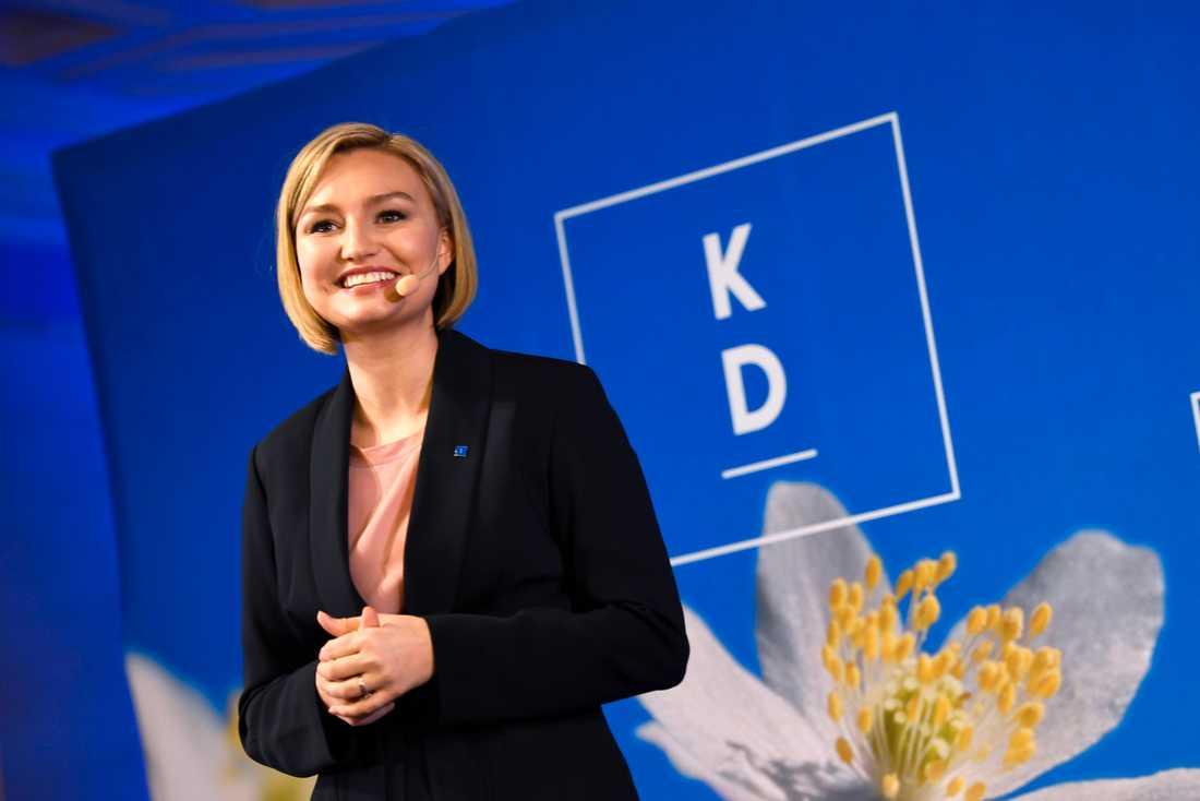 Svenskens förtroende för Kristdemokraternas partiledare Ebba Busch Thor har ökat. Arkivbild.