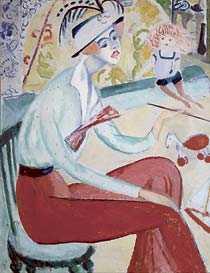 """Sigrid Hjertén: """"Självportätt"""", cirka 1914."""