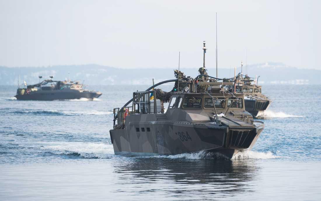 Den 11 maj drar marinen i gång en tio dagar lång nationell övning. Bild från marinens liknande övning år 2016, Swenex 16.