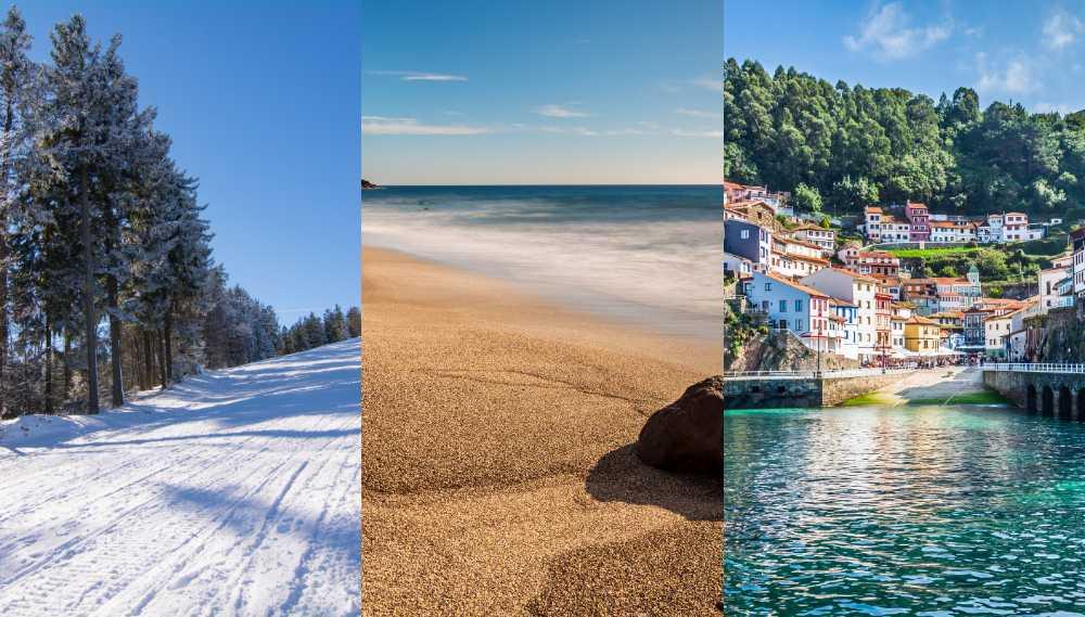 Spanien bjuder på allt från öken till skidåkning.