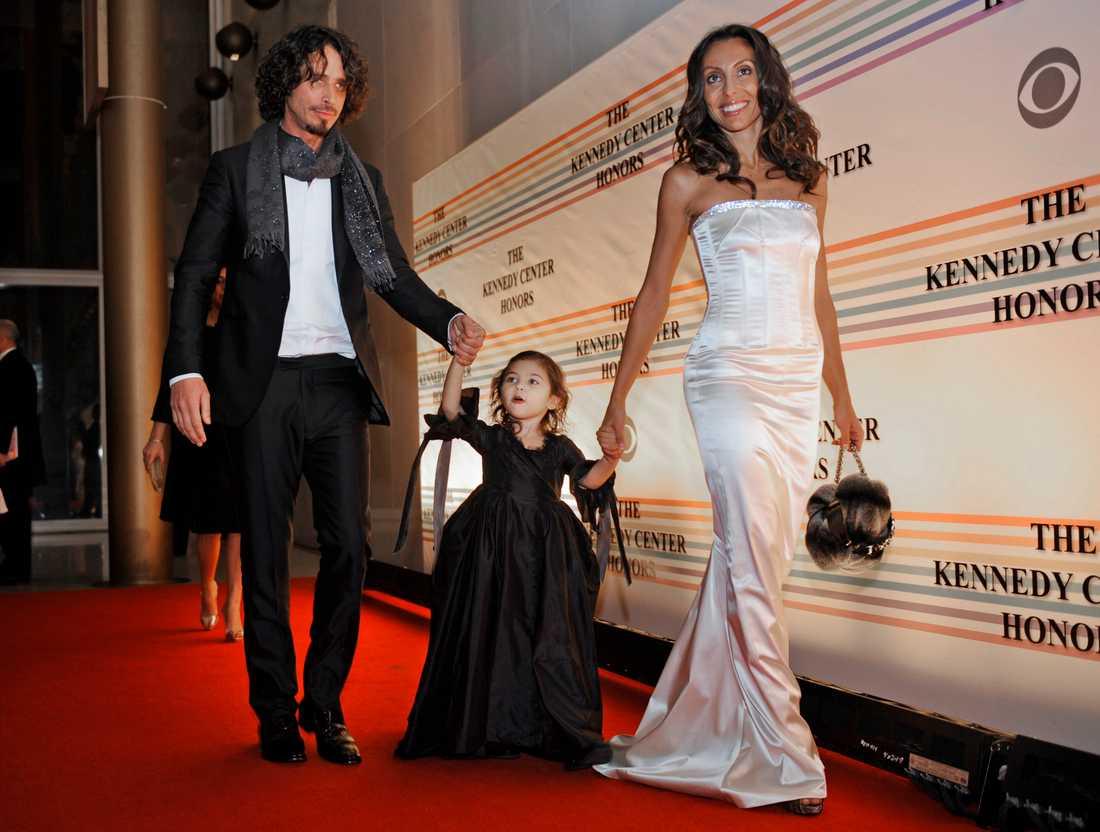 Chris Cornell med hustrun Vicky och dottern Toni 2008.
