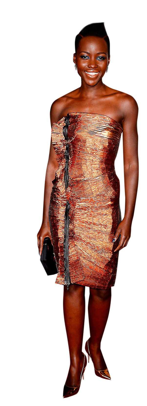 Skådespelerskan Lupita Nyong'oi glitterfodral från Lanvin.