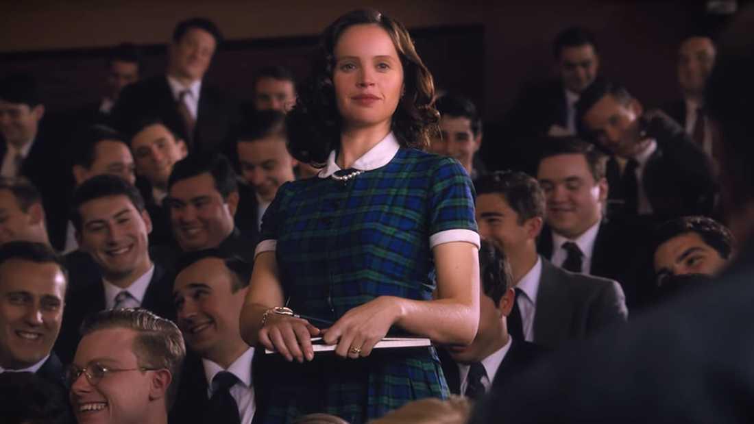 """Felicity Jones i """"En kvinna bland män""""."""