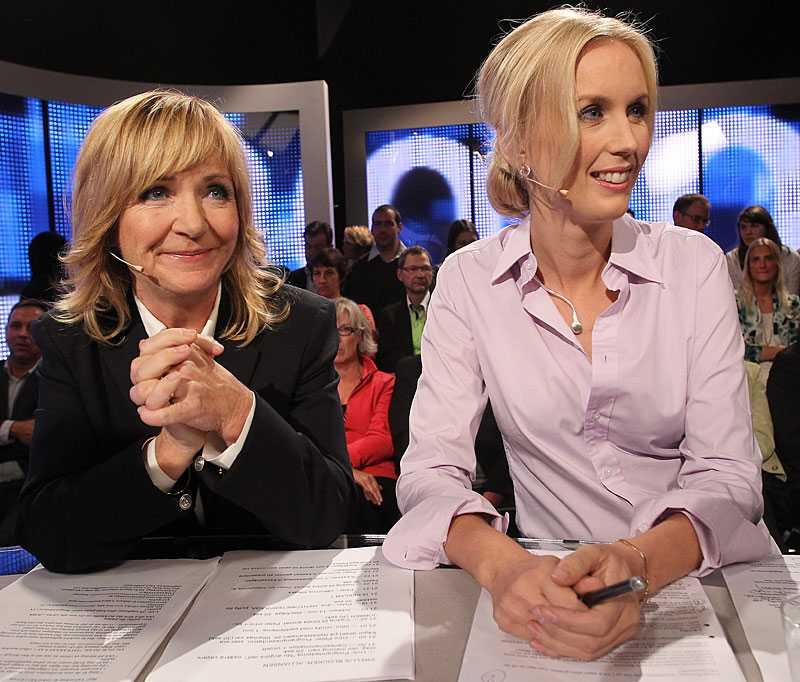 TV4:s Malou von Sivers och Jenny Östergren.
