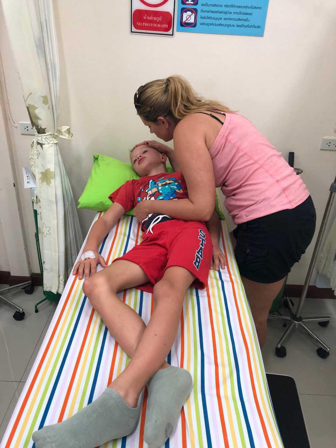 Noel fick ligga på sjukhus i tre dagar. Denguefebern gjorde honom orkeslös.
