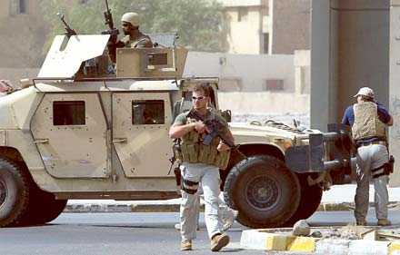 Blackwater-soldater i Bagdad.