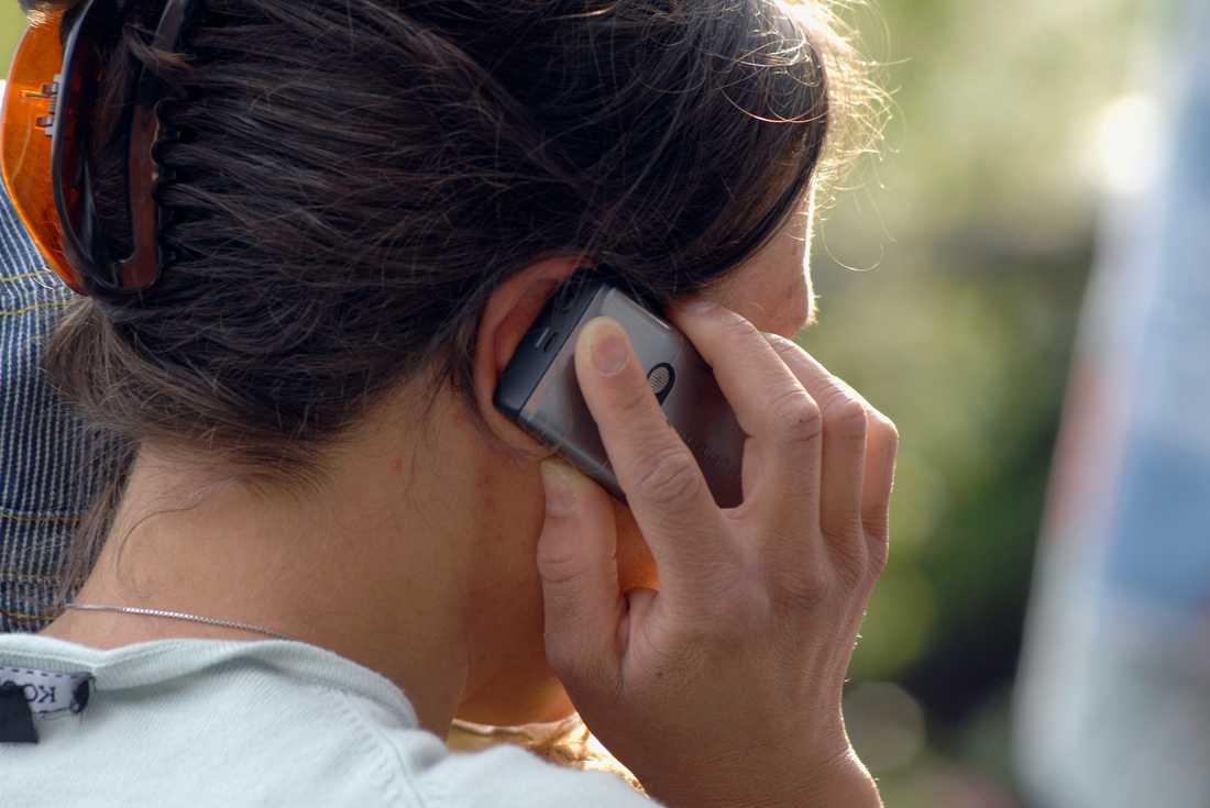 Telefonsamtalen blir allt längre under pandemin. Arkivbild.