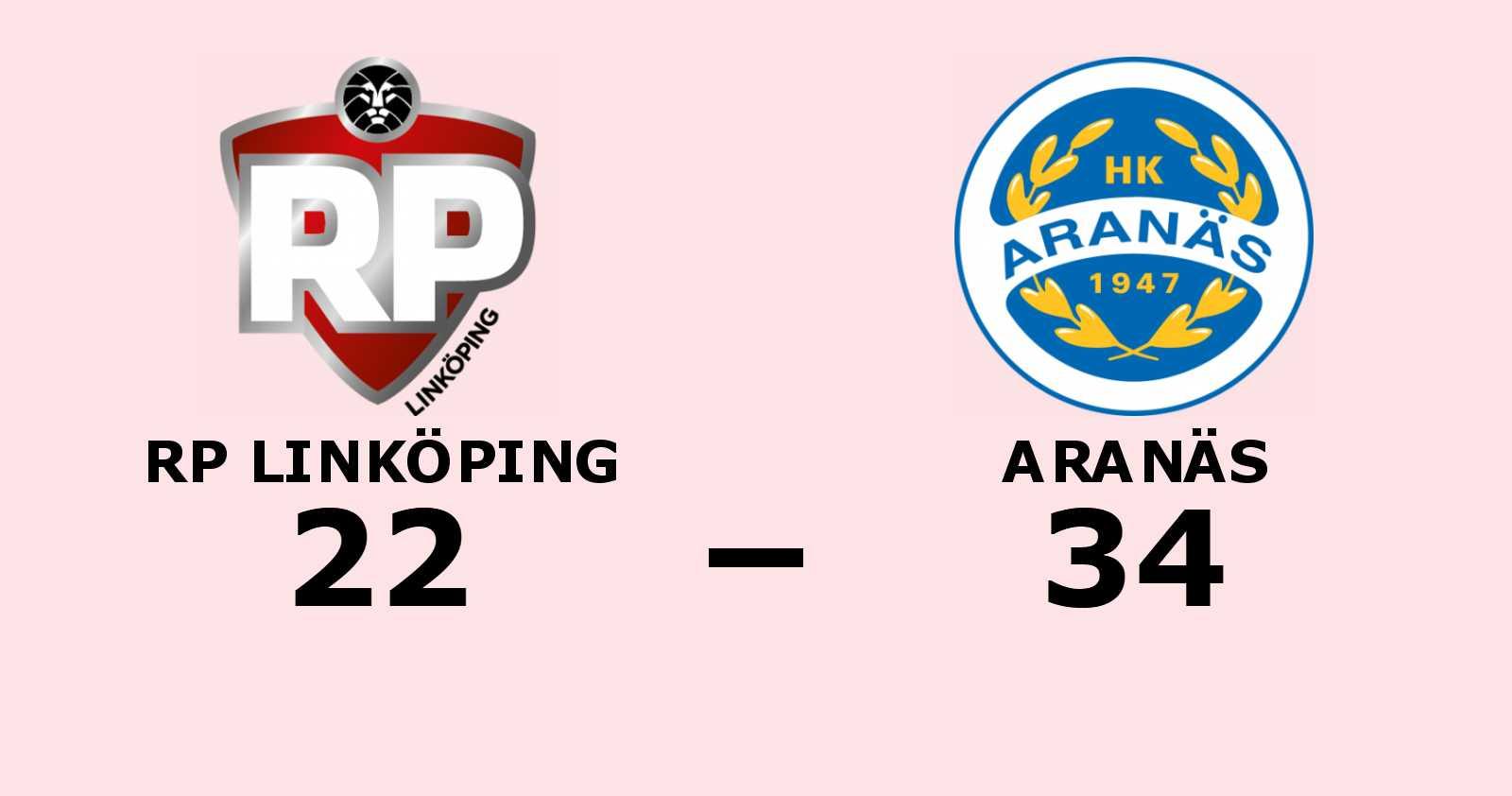 RP Linköping klart för nedflyttning efter förlust