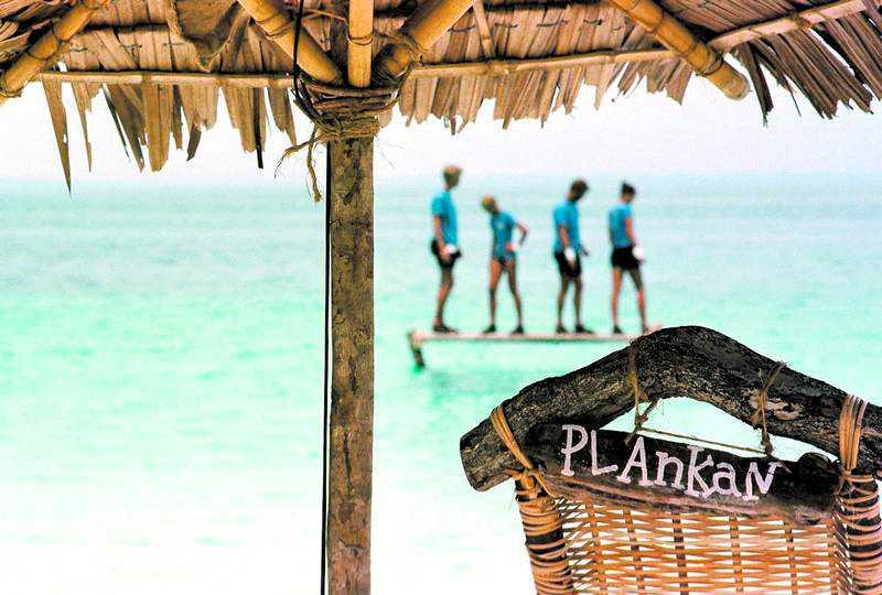 """""""Plankan"""" var en av de klassiska grenarna i """"Robinson""""."""