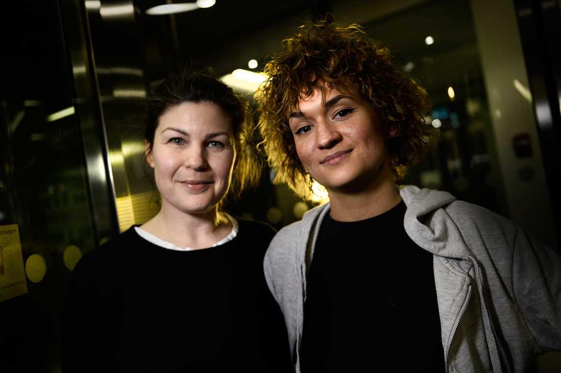 Sara Haag och Bianca Kronlöf.