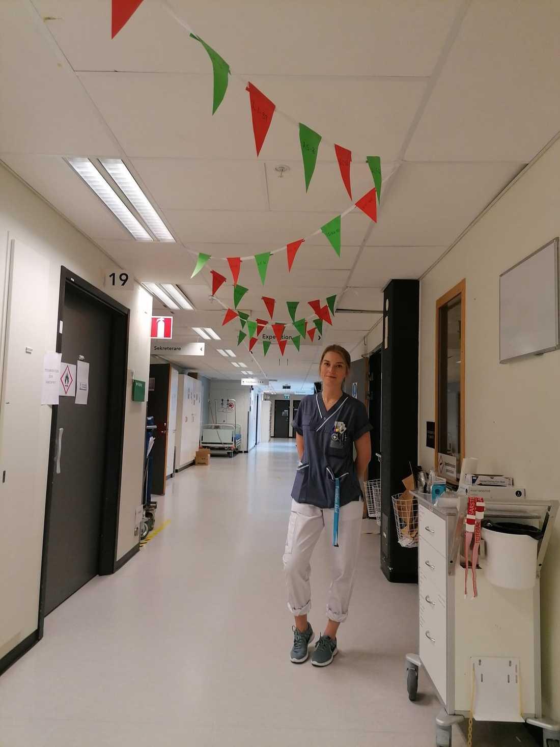 Josefin Grönlund, sjuksköterska på Karolinska sjukhuset i Huddinge.