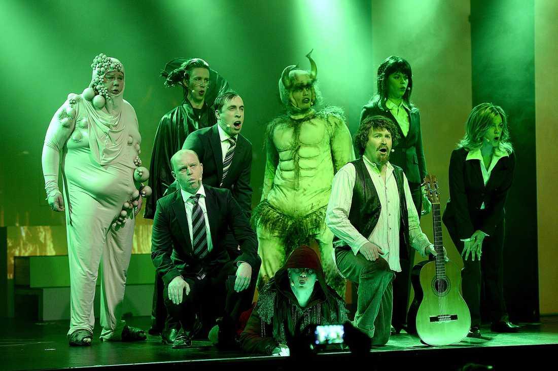 Grotescos scenshow kördes tidigare på Scalateatern i Stockholm.