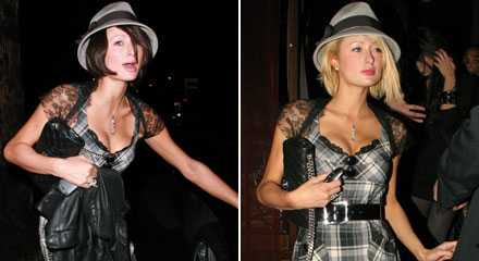 Brunett - eller blondin? Straight eller gay? Ombytliga Paris Hilton festar på lesbisk klubb i Los Angeles.