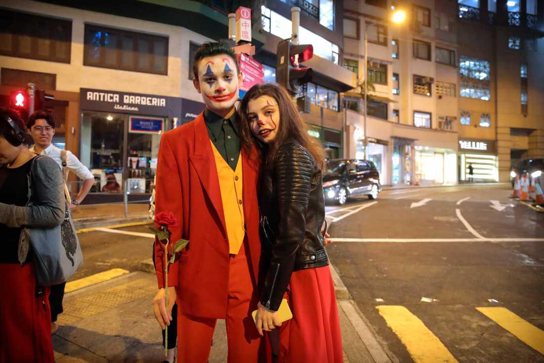 Halloweenfirare i Hongkong.