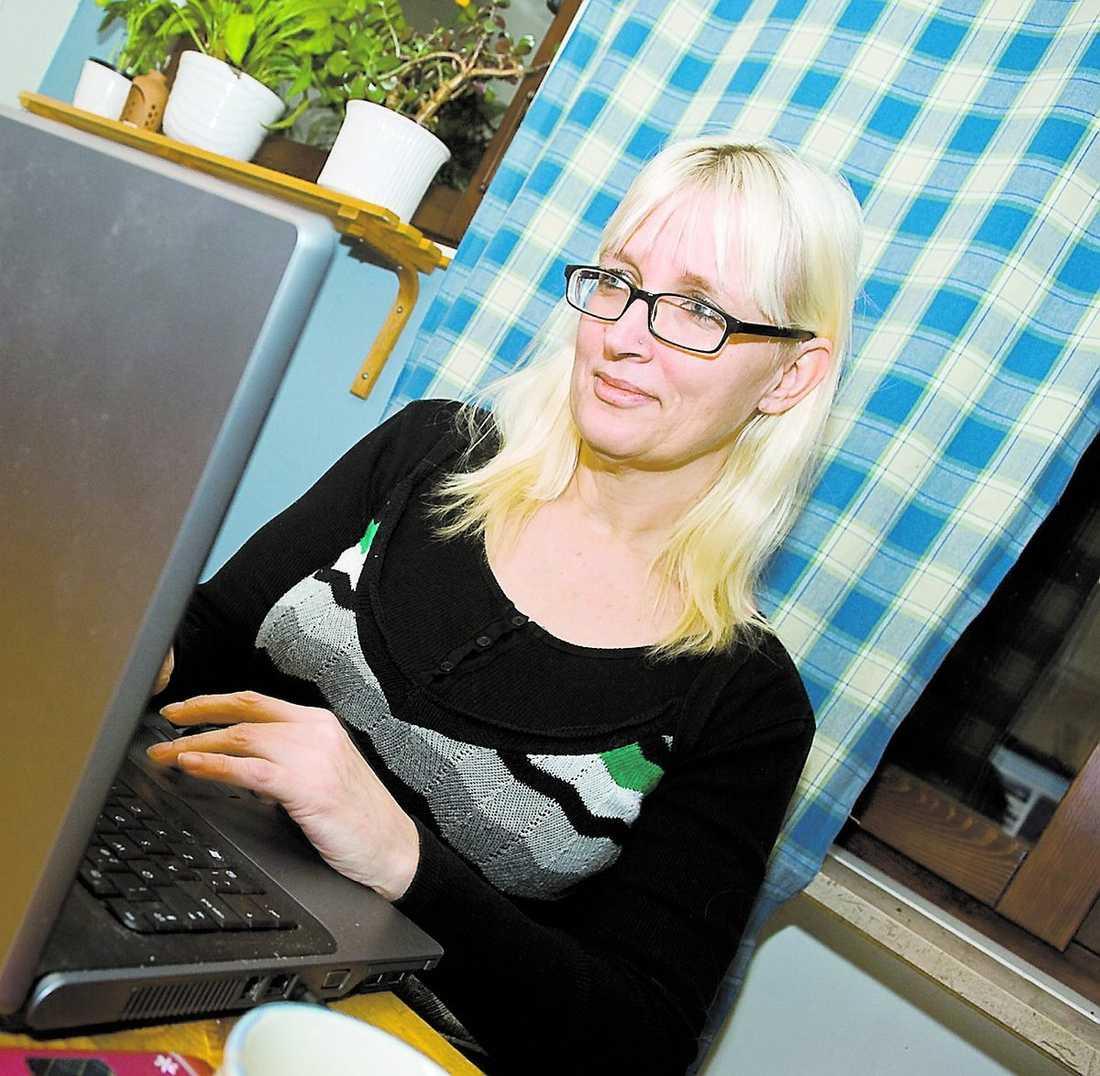 """Åse Sjöberg 43, Uppsala, är arbetslös och skribent. Hon har skrivit flera inlägg på sin blogg """"The Witch""""."""