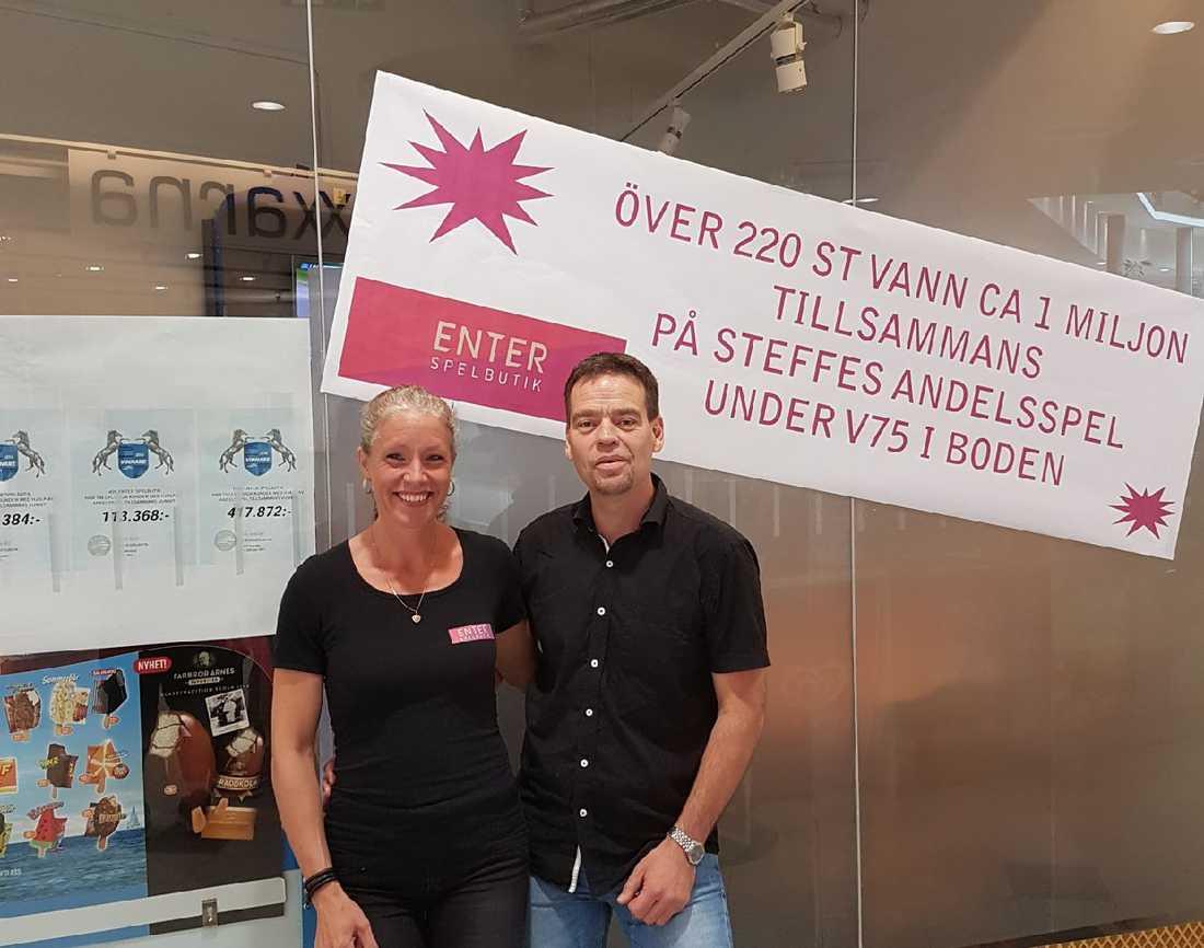 Agneta och Per i Enter Spelbutik.