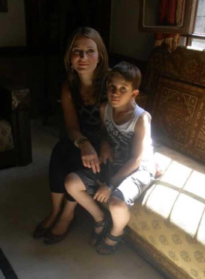 Jonathans favoritbild på sig och mamma Carla.