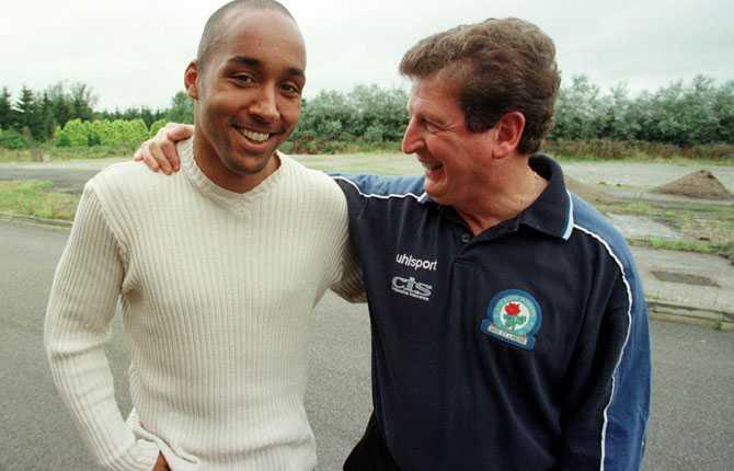 1997 gick tränarkarriären vidare i Blackburn. Här tillsammans med Martin Dahlin.