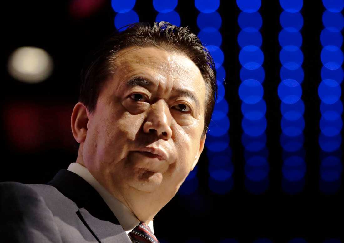 Den tidigare Interpolchefen Meng Hongwei. Arkivbild.