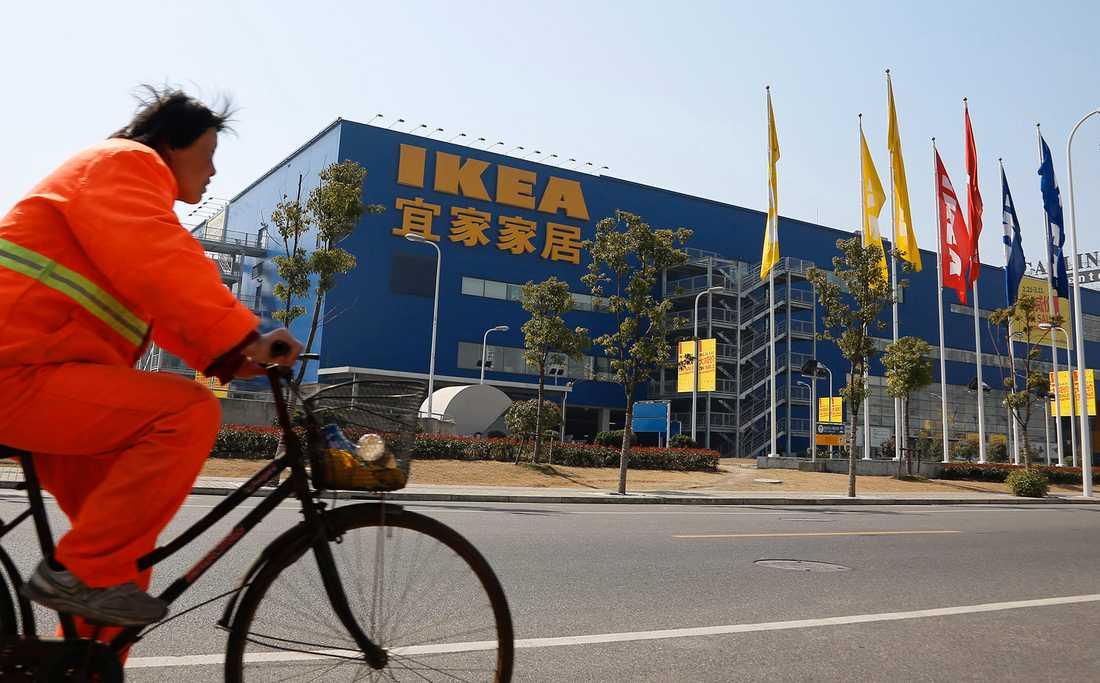 Ikea stänger tillfälligt alla sina butiker i Kina. Arkivbild.