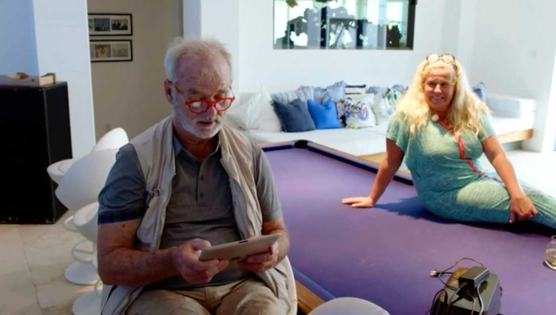 """I tisdagens """"Parneviks"""" visar Bill Murray upp de """"mystiska"""" brev han fått från Kronofogden för Mia Parnevik."""