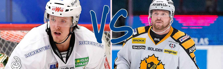 Magnus Nygren och Jonas Frögren spelade tidigare ihop i Färjestad. Nu ställs de båda kompisarna mot varandra i SM-finalen.