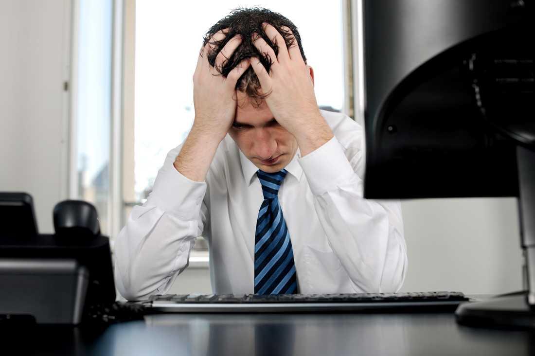 Bland dem som jobbade mer än 52 timmar i veckan var håravfall dubbelt så vanligt jämfört med de män som hade normala arbetsveckor.