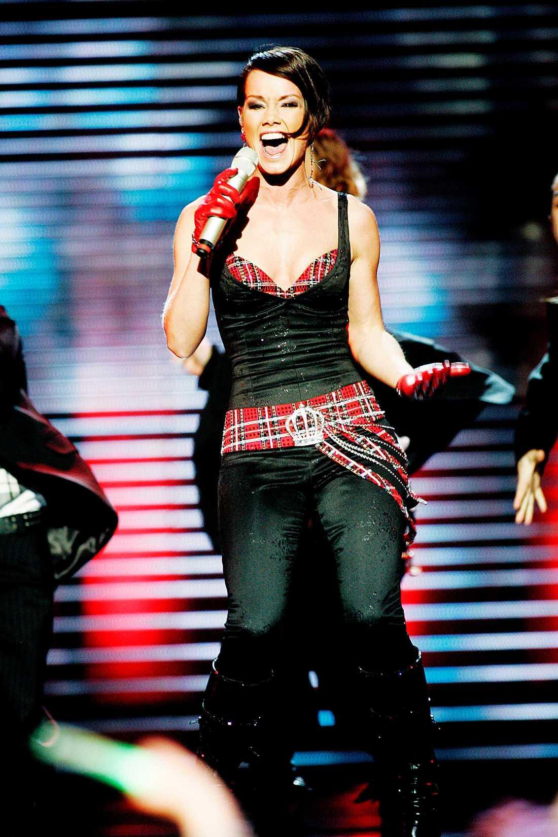 Linda Bengtzing i Melodifestiavlen 2008.