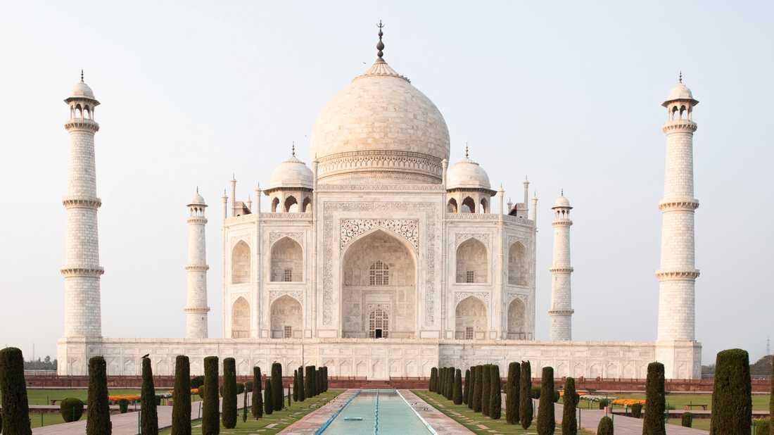 Taj Mahal. Bild från februari.
