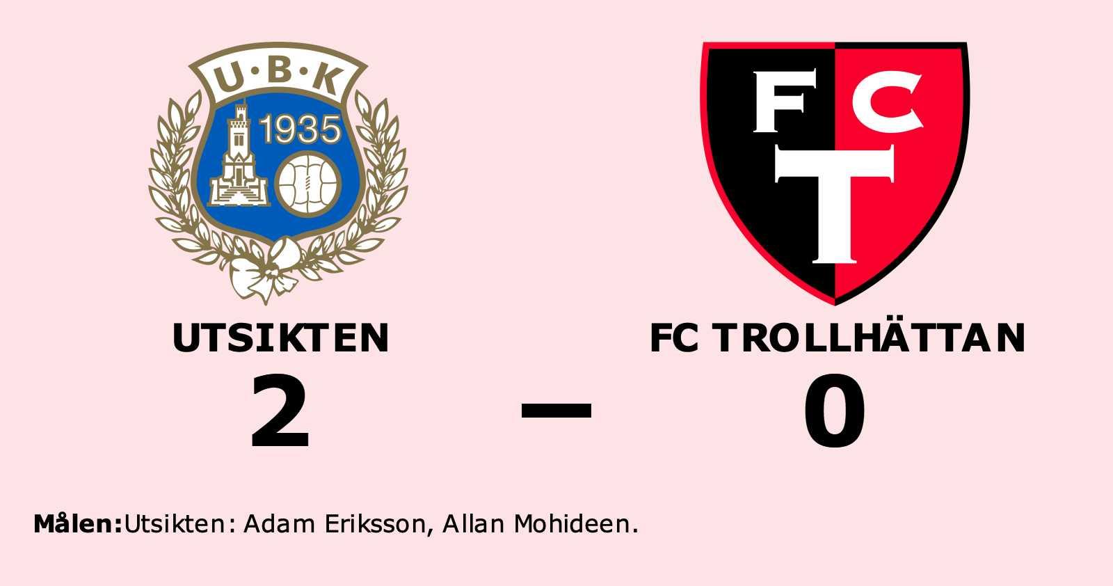 Adam Eriksson och Allan Mohideen målgörare i Utsiktens seger