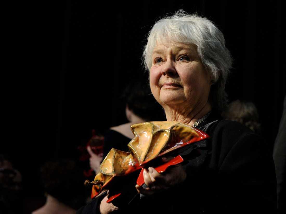 Mona Malm tilldelades en Guldbagge 2011, under årets gala hedrades hon i In Memorian-inslaget. Arkivbild.