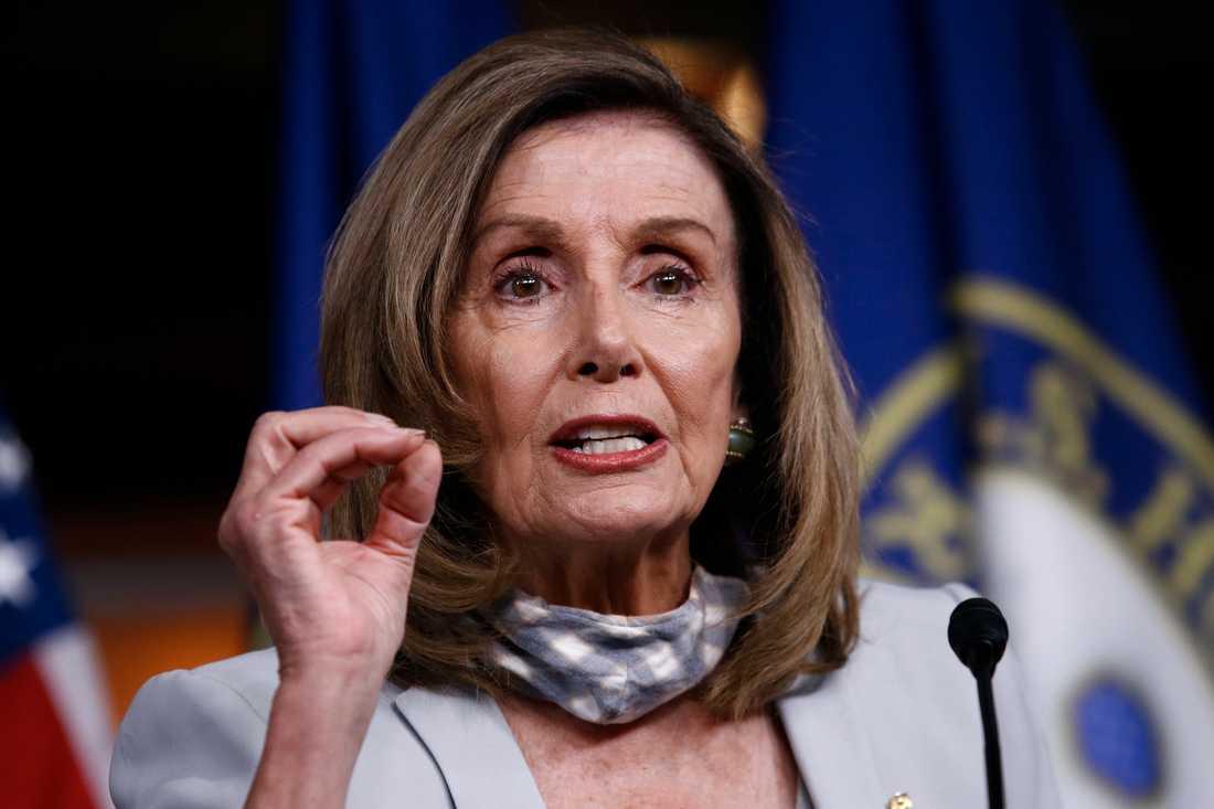 Nancy Pelosi, talman i USA:s representanthus. Bild från tidigare i augusti.