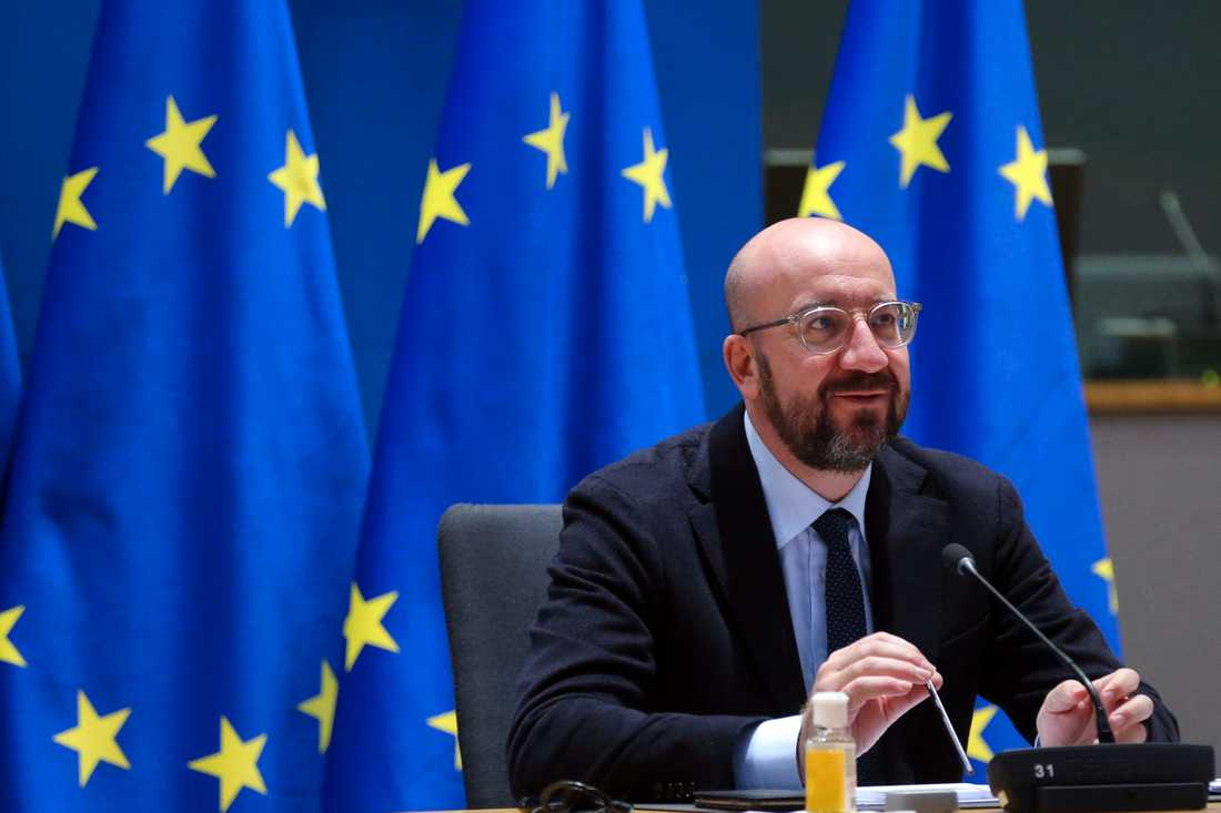 EU:s permanente rådsordförande Charles Michel. Arkivfoto.