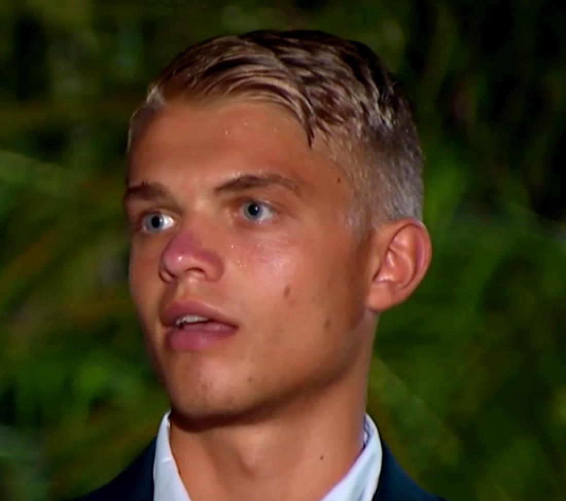 Mattias Helén blev svettig under parceremonin.