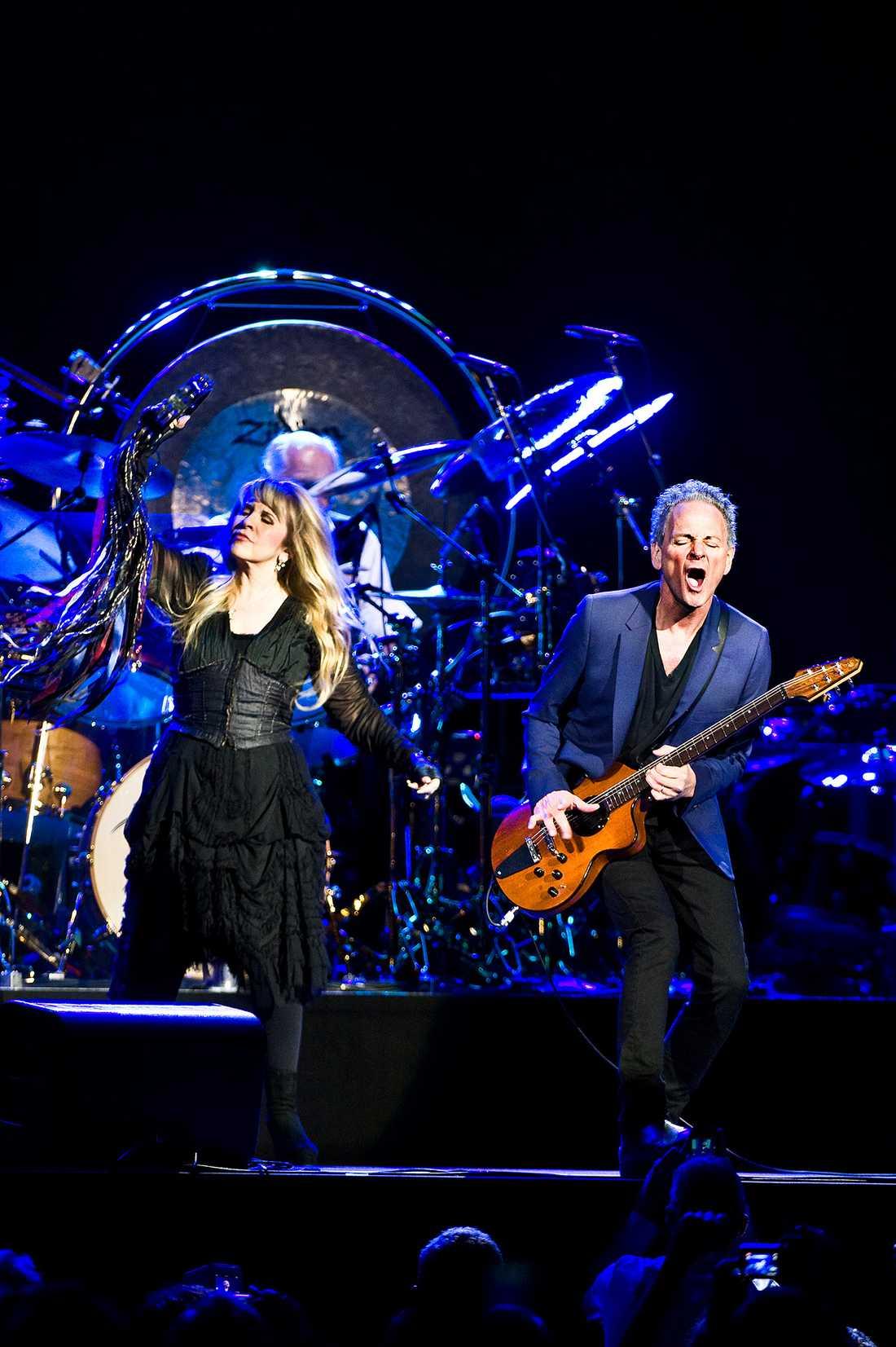 Stevie Nicks och Lindsey Buckingham.