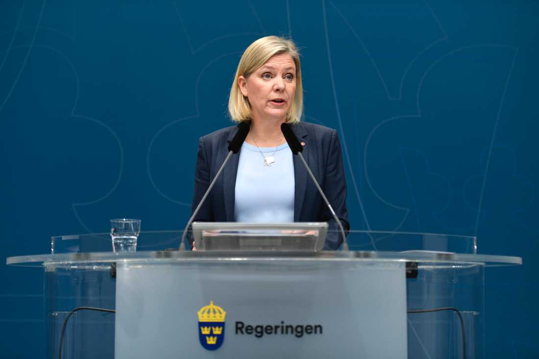Finansminister Magdalena Andersson (S) återkommer med besked om kommunpengarna.